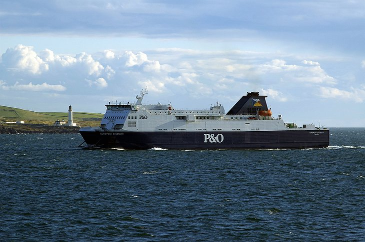 P&O Ferry and Corsewall Lighthouse hotel