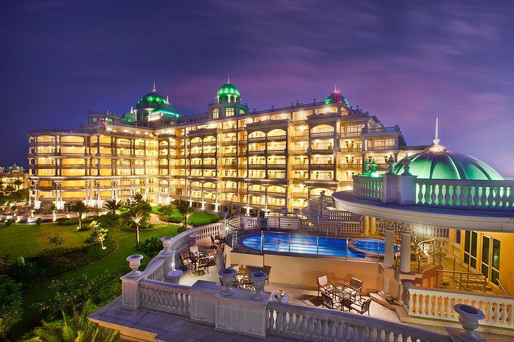 The rooftop of the Imperial Villa with Kempinski Palm Jumeirah views