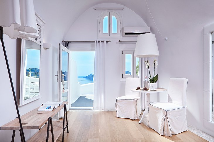 Superior suite with Aegean sea view