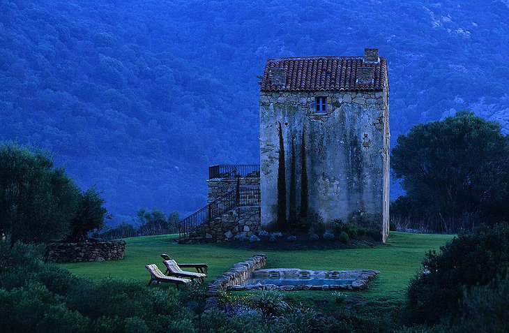 Old villa in the Corsican nature