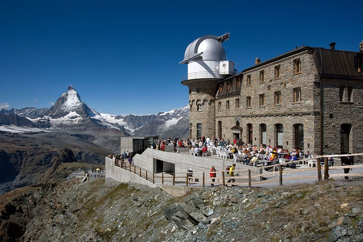 Kulmhotel Gornergrat in summer