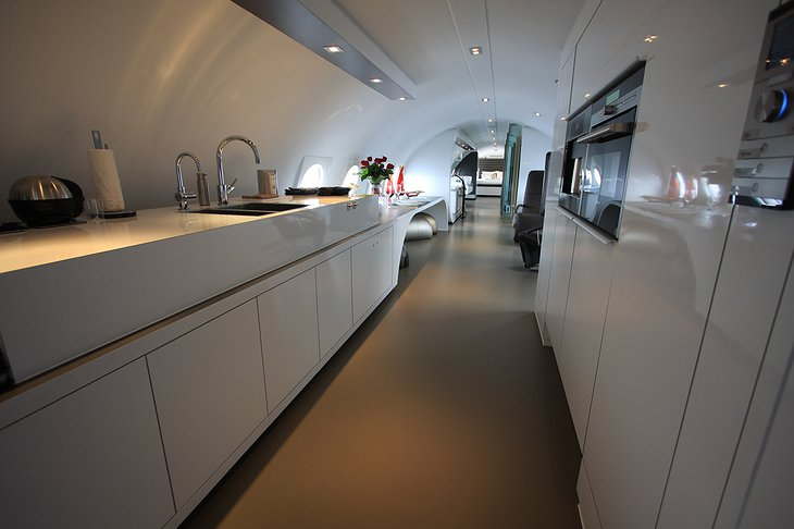 Airplane Suite kitchen