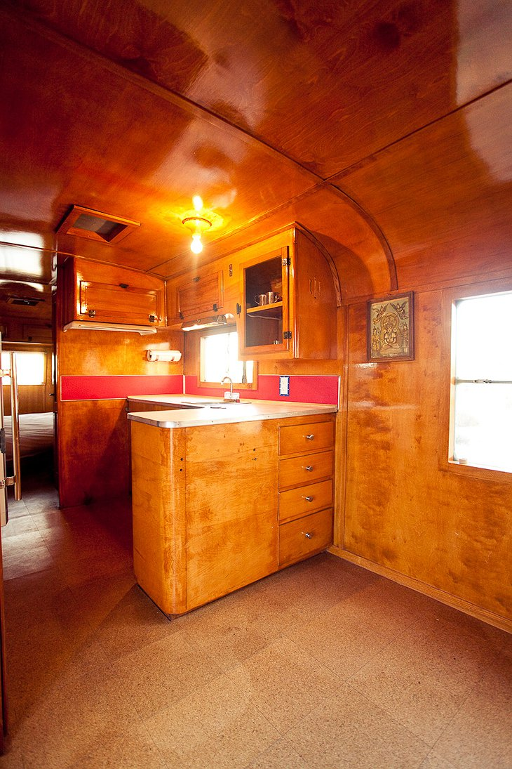 Kozy Coach trailer kitchen