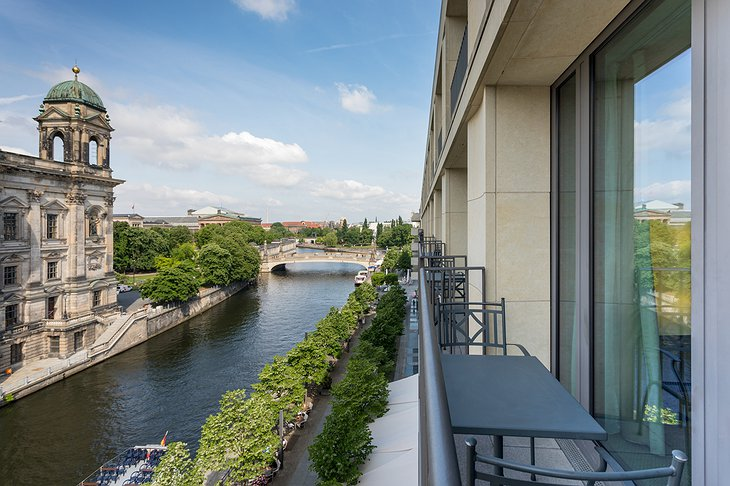 Radisson Blu Berlin Balcony with Museum District View