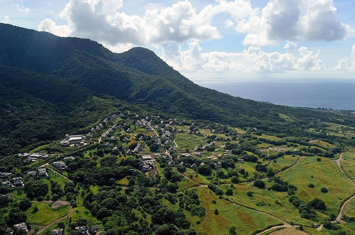 Hills on Saint Kitts and Nevis