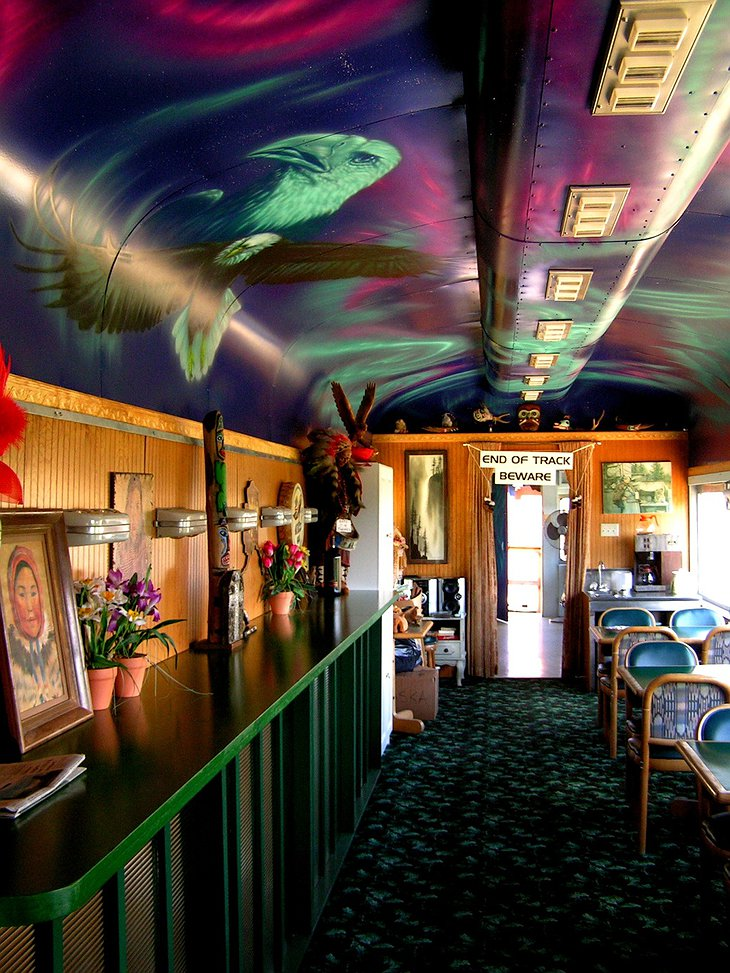 Aurora Express dining-car