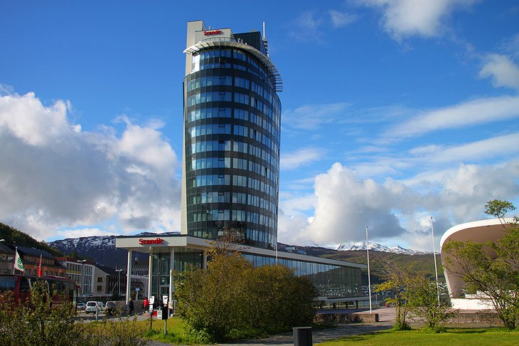 Scandic Narvik Building with the Mountains