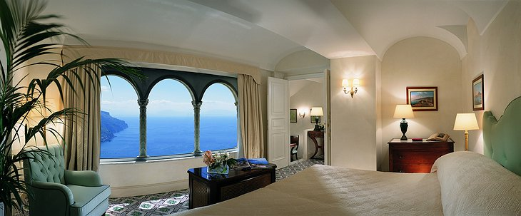 Hotel Caruso room with sea-views