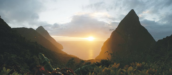 Piton Mountains sunrise