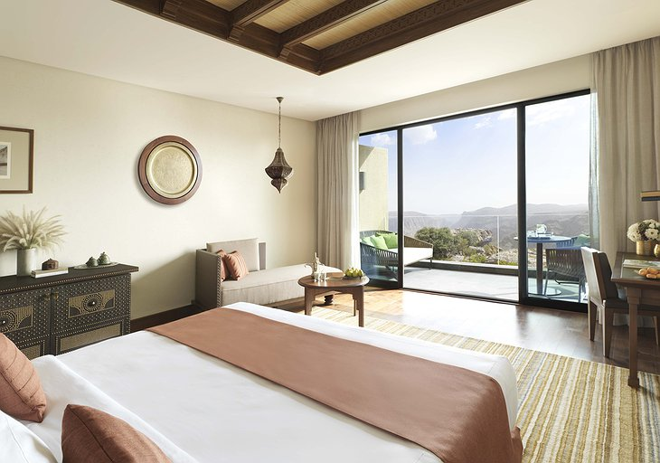Anantara Al Jabal Al Akhdar Resort room with canyon view