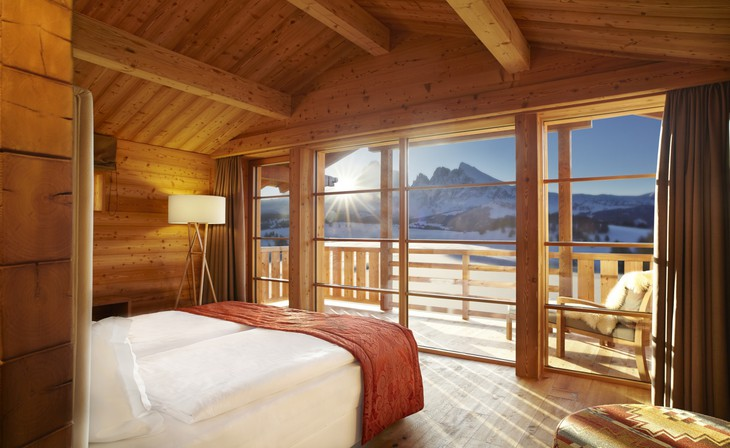 Chalet bedroom with view