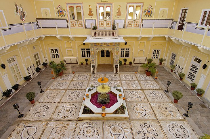 The Raj Palace courtyard