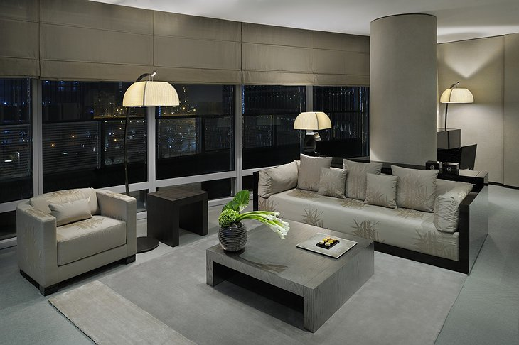 Armani Ambassador Suite living room