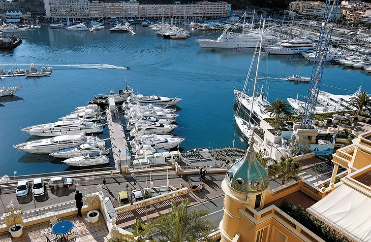 Hotel Hermitage Monte-Carlo harbour views