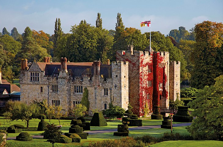 Hever Castle in Autumn colors