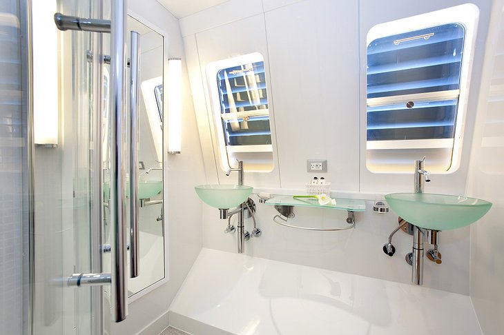 Necker Belle yacht bathroom