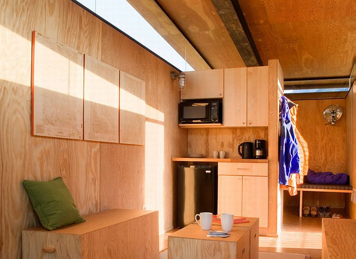 Rolling Huts interior