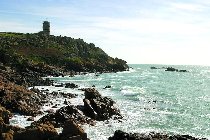 La Corbiere Radio Tower on Jersey Island