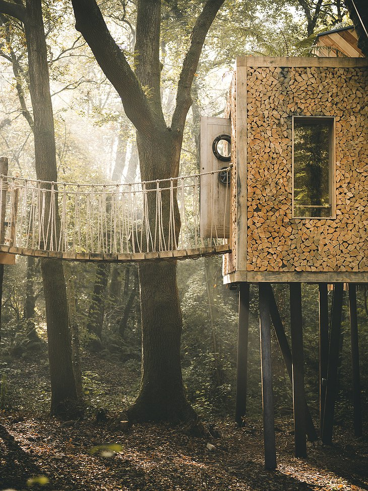 The Woodman's Treehouse bridge