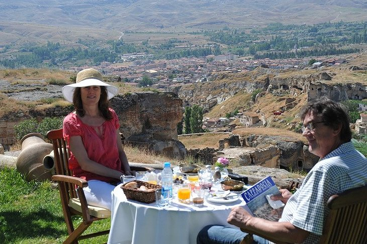 Dining with Cappadocia view