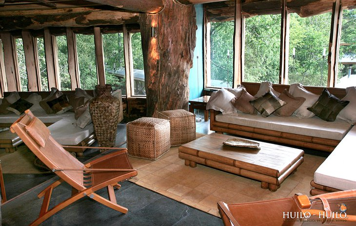 Hotel Baobab living room with view on nature