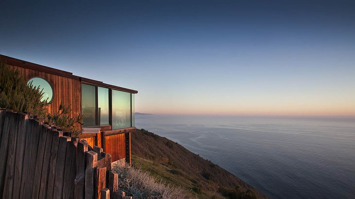 Post Ranch Inn wooden building with panoramic ocean views