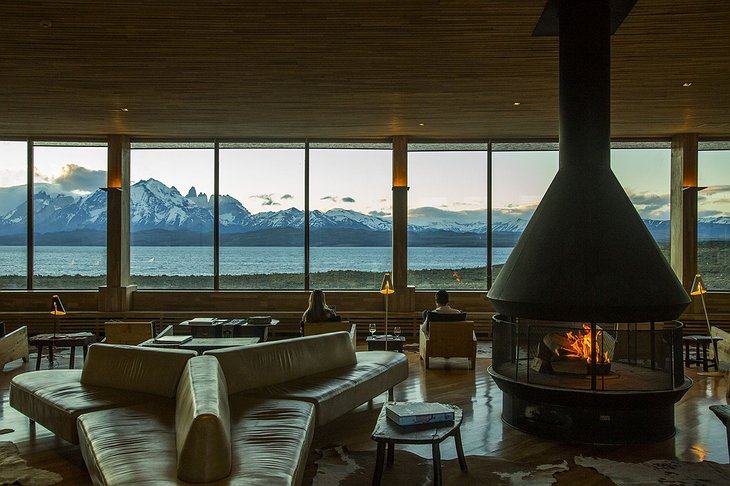 Tierra Patagonia Lounge with Fireplace