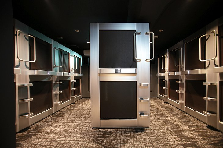 New Japan Capsule Hotel Cabana closed capsules