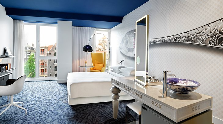 Andaz Amsterdam hotel canal view room
