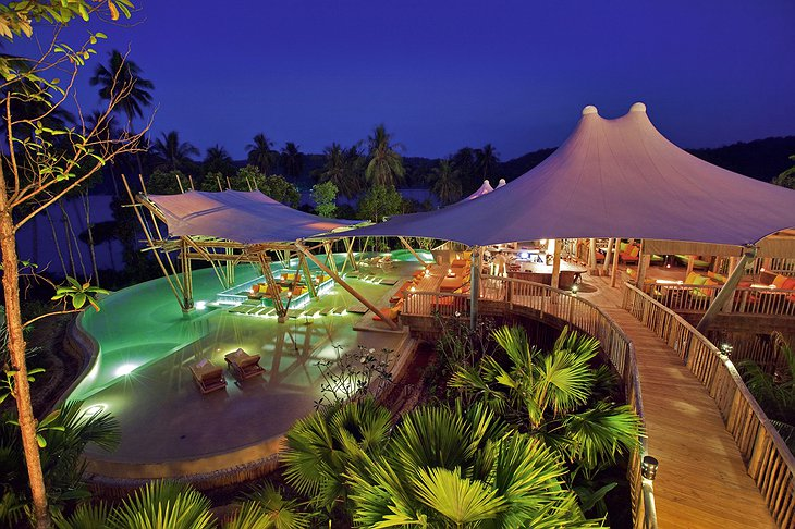 Soneva Kiri Resort Thailand - Main Pool Night