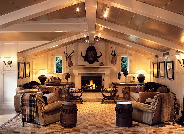 Huka Lodge Trophy Room dining