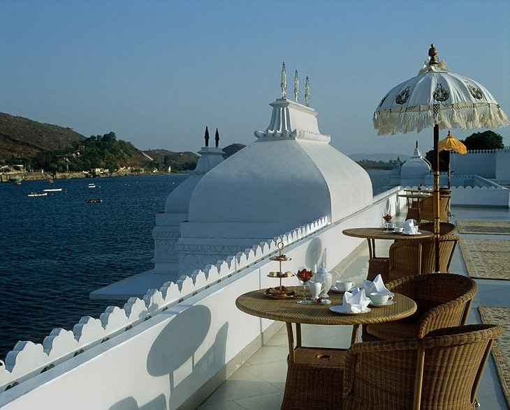 Lake Palace Hotel top terrace