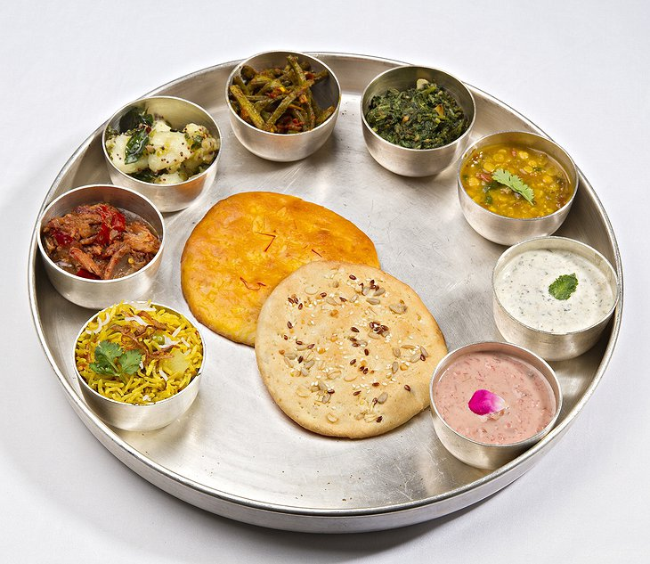 Indian dishes at the Samode Palace hotel