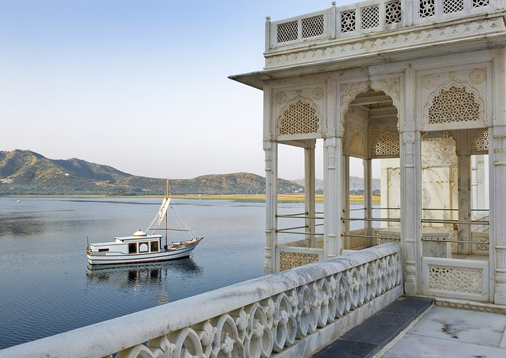 View from the Lake Palace Hotel