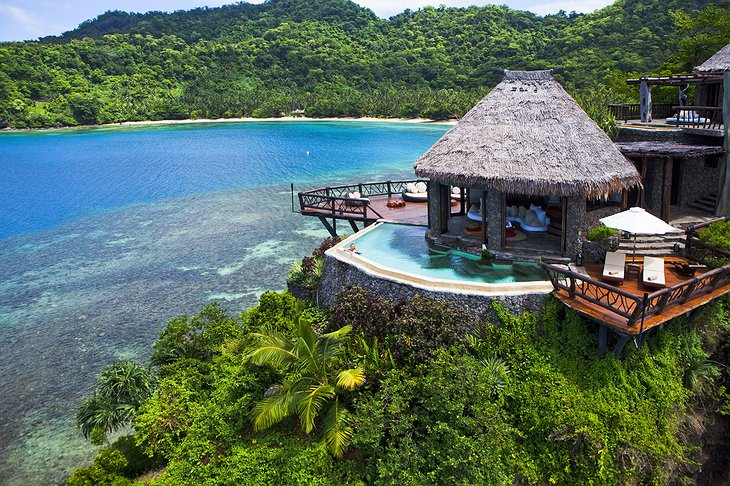 Laucala Island Resort Peninsula Villa with private pool in the hill