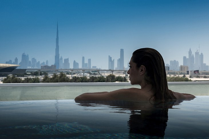 InterContinental Dubai Festival City rooftop pool