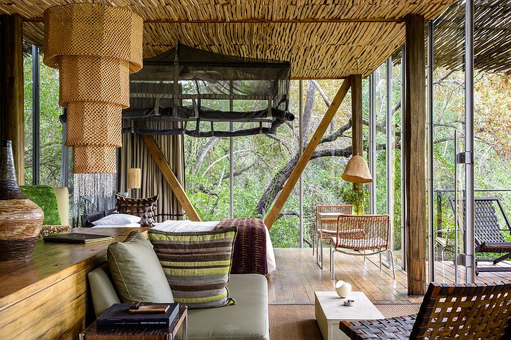 Singita Sweni Lodge living room