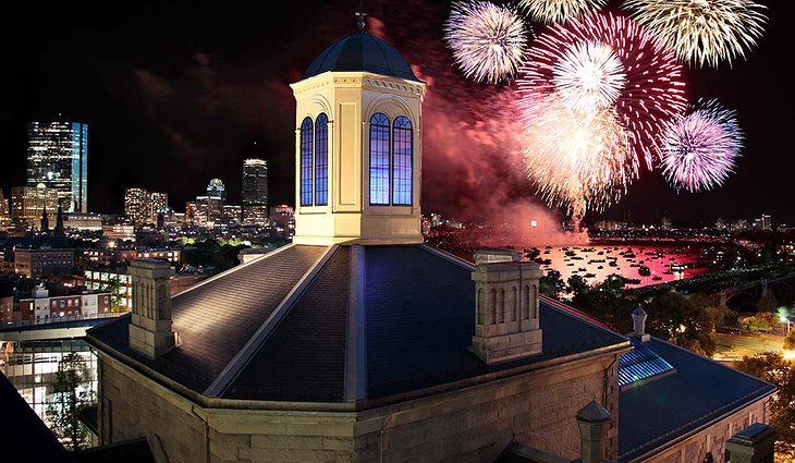 Liberty Hotel and Fireworks