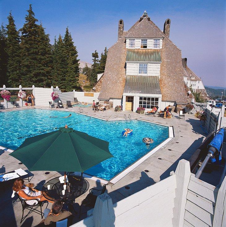 Timberline Lodge outside pool