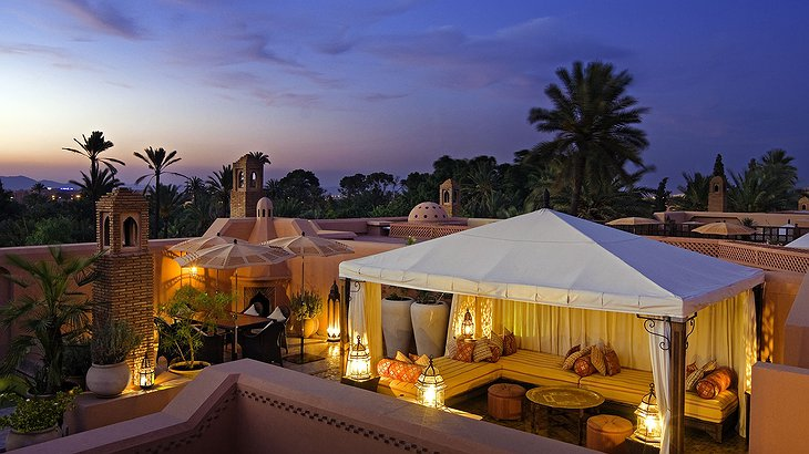 A rooftop view from the 3 bed riad at the Royal Mansour Marrakech