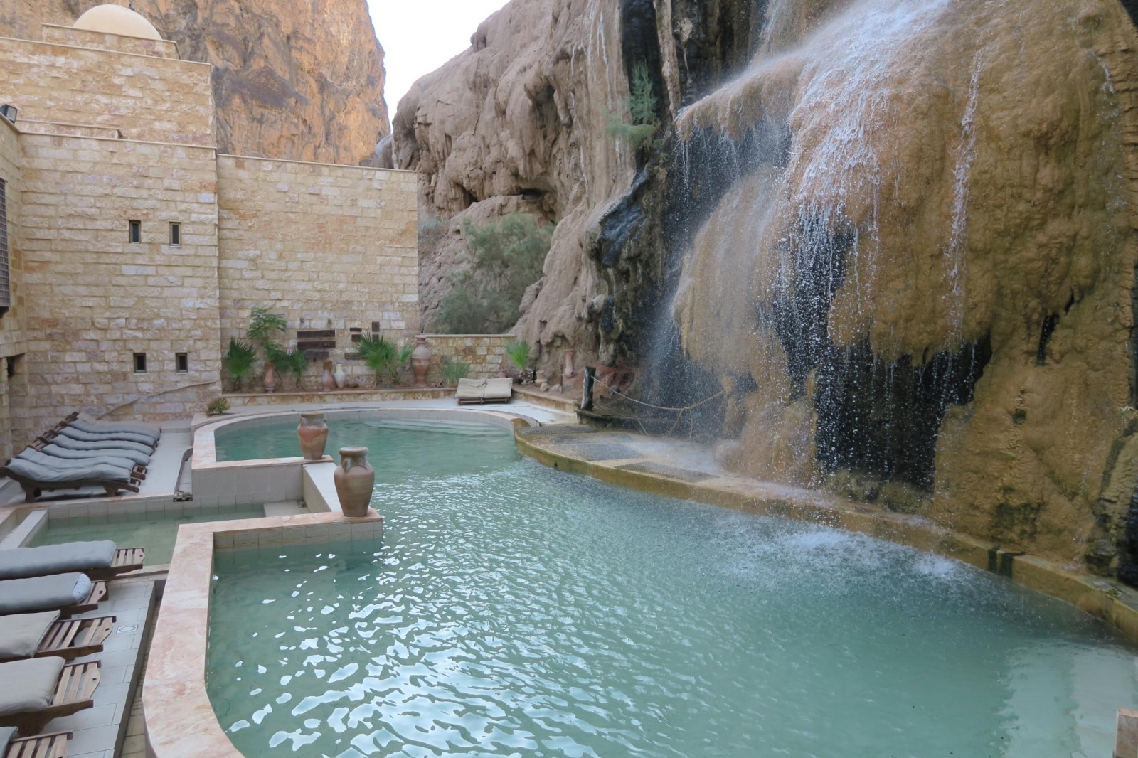 Patagonia South America >> Ma'In Hot Springs Resort & Spa - Hotel in the desert with its own waterfall
