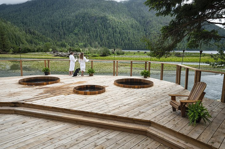 Clayoquot Wilderness Resort Outdoor Hot Tubs with Nature View