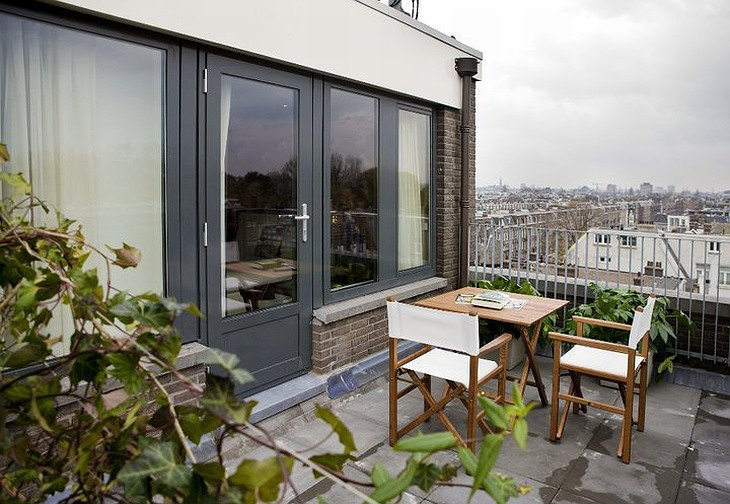 Conscious Hotel private terrace