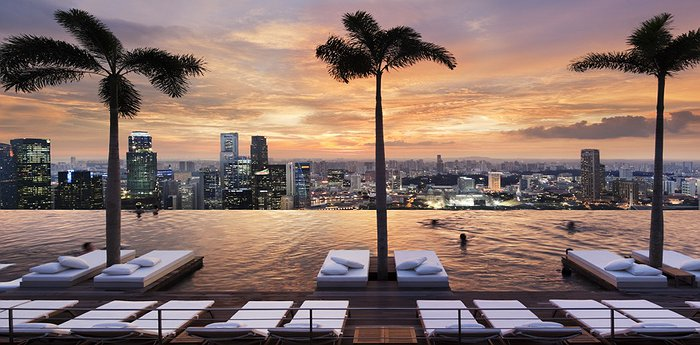 Marina Bay Sands - Sky High Infinity Pool In Singapore