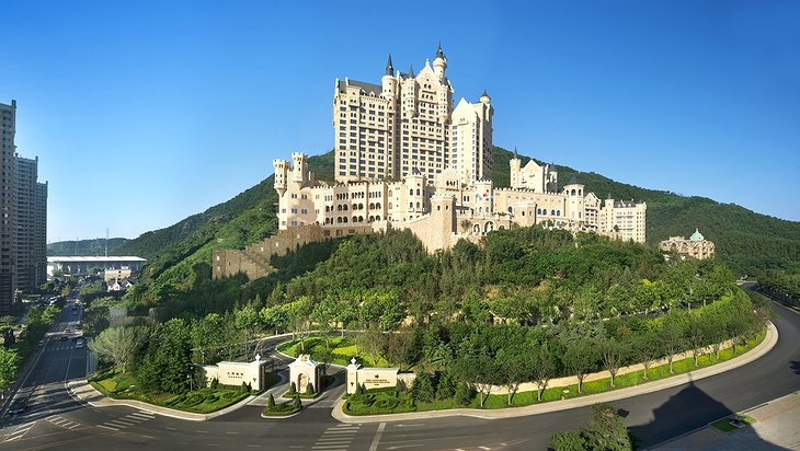 The Castle Hotel in Dalian on the hill
