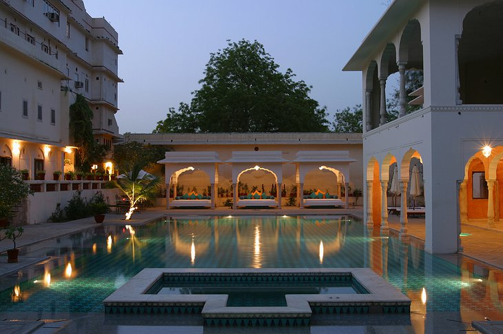 Samode Haveli swimming pool