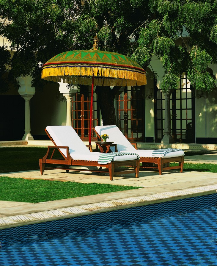 The Oberoi Vanyavilas pool umbrella