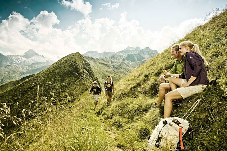 Summer hiking in the Kitzsteinhorn mountain