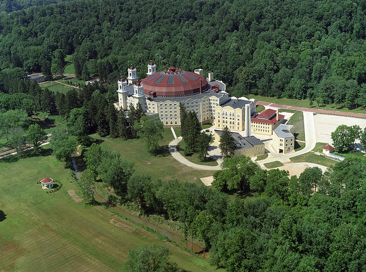 West Baden Springs hotel from the air