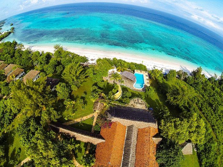 The Manta Resort aerial